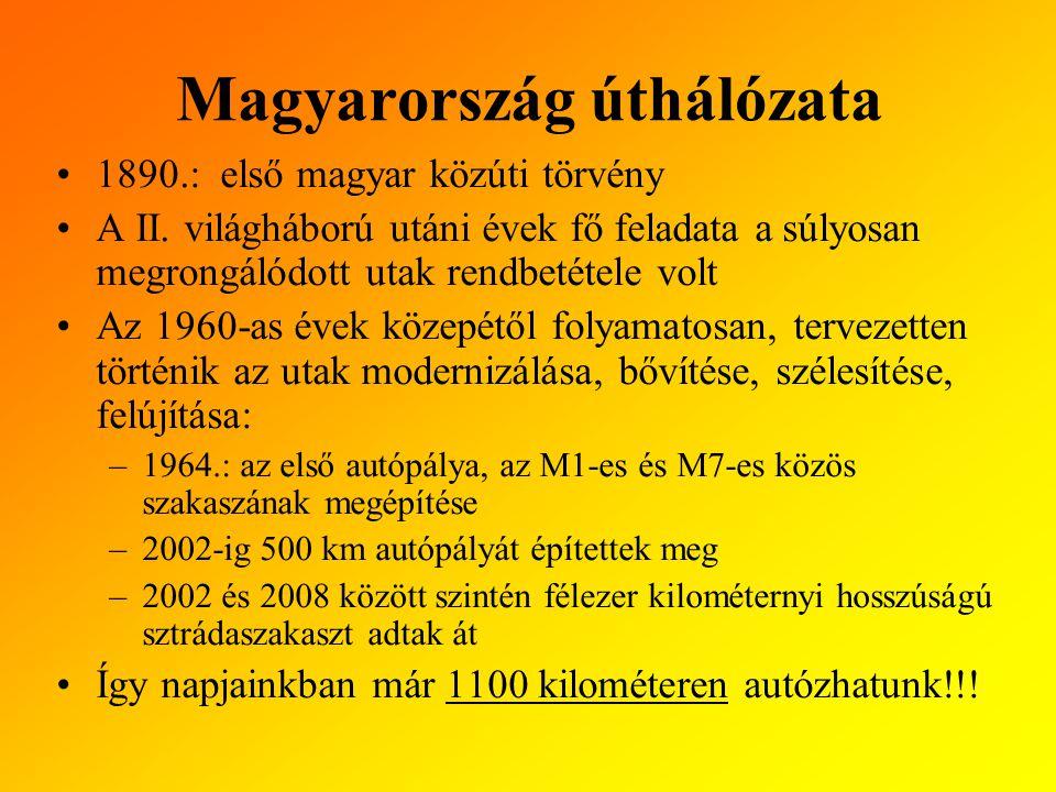 Magyarország úthálózata 1890.: első magyar közúti törvény A II.