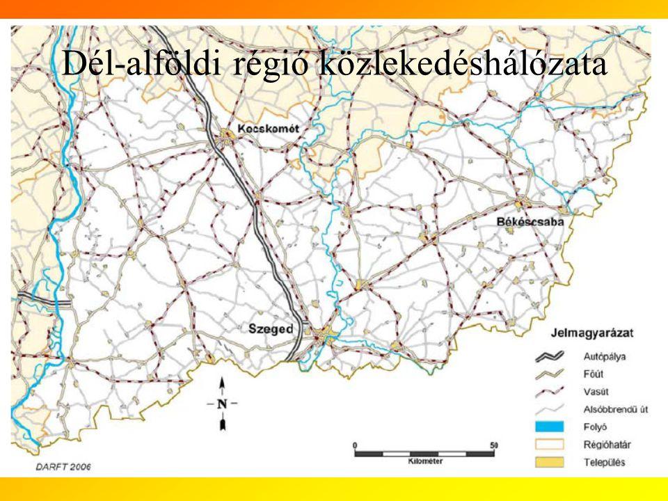 Dél-alföldi régió közlekedéshálózata