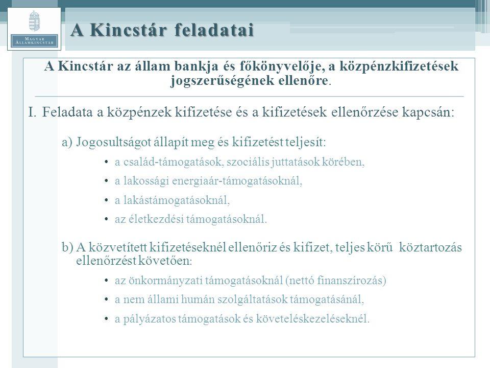 A Kincstár az állam bankja és főkönyvelője, a közpénzkifizetések jogszerűségének ellenőre.