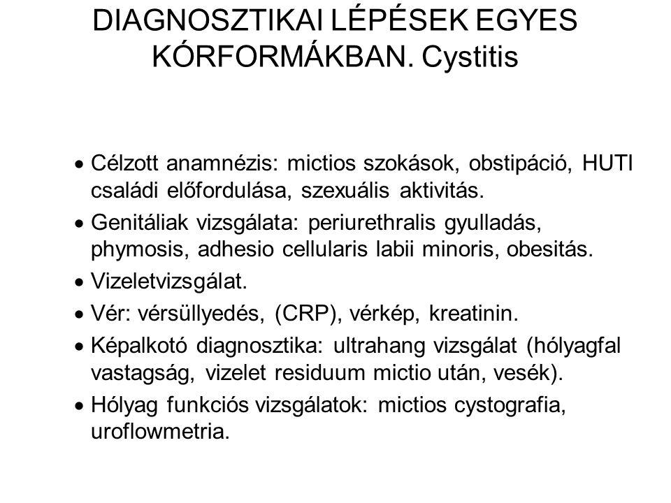DIAGNOSZTIKAI LÉPÉSEK EGYES KÓRFORMÁKBAN.
