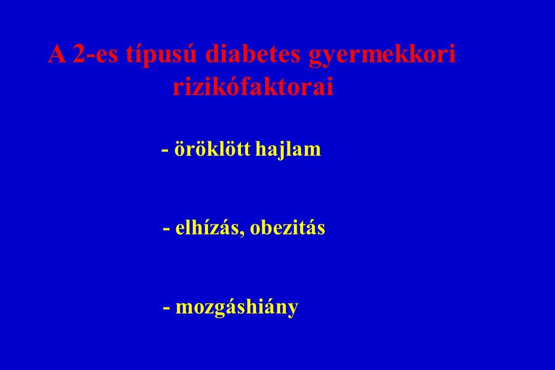 A 2-es típusú diabetes gyermekkori rizikófaktorai - öröklött hajlam - elhízás, obezitás - mozgáshiány