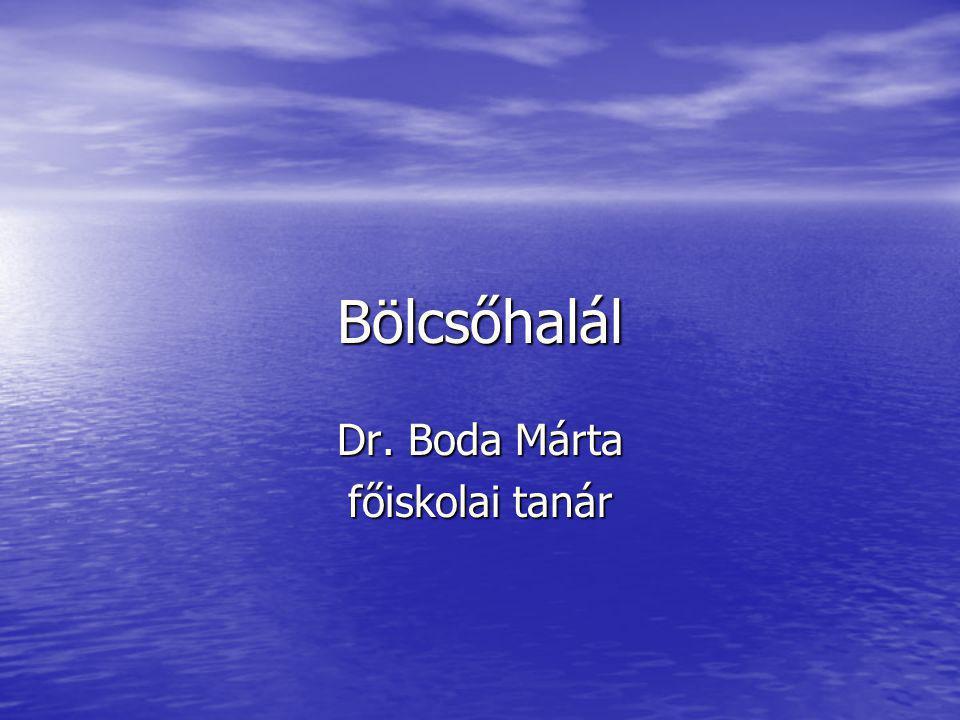 Bölcsőhalál Dr. Boda Márta főiskolai tanár