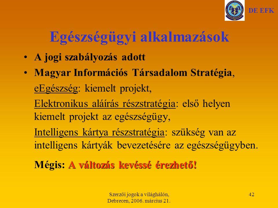 Szerzői jogok a világhálón, Debrecen, 2006.március 21.