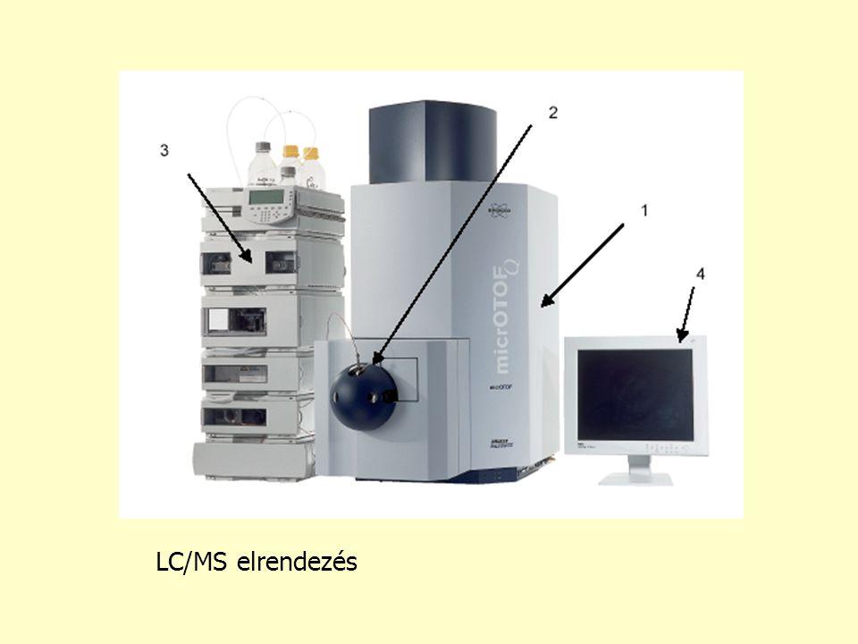 LC/MS elrendezés