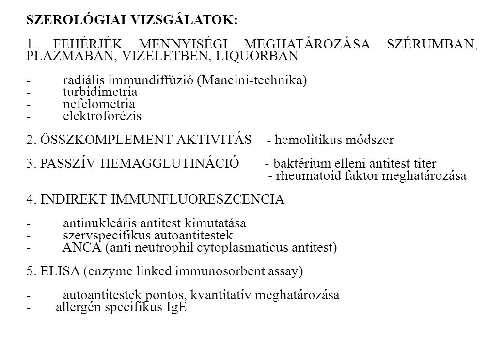 SZEROLÓGIAI VIZSGÁLATOK: 1. FEHÉRJÉK MENNYISÉGI MEGHATÁROZÁSA SZÉRUMBAN, PLAZMÁBAN, VIZELETBEN, LIQUORBAN - radiális immundiffúzió (Mancini-technika)