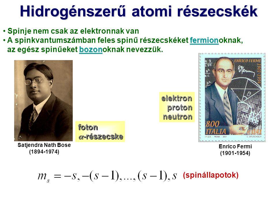 A rendszer stacionárius Schrödinger-egyenlete: Csak közelítő módszerekkel lehet megoldani Megfelelően bonyolult (sok paramétert tartalmazó) variációs próbafüggvényekkel egyszerű rendszerekre jó közelítés érhető el Az elektronszerkezet egységes és szemléletes tárgyalását a független- részecske-közelítés teszi lehetővé.