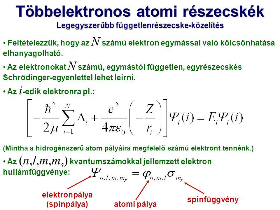 Egy atomban nem lehetnek olyan elektronok, amelyeknek mind a négy kvantumszáma megegyezik.