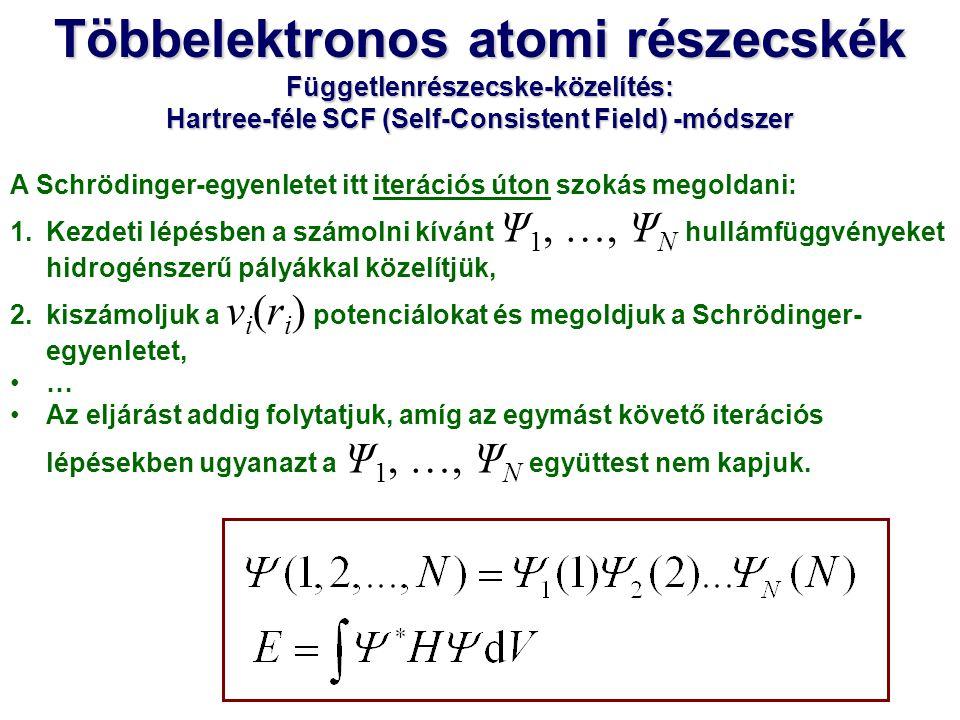 Az atom teljes hullámfüggvényét determináns-alakban veszi fel, próbálja figyelembe venni az elektronok megkülönböztethetetlen voltát.