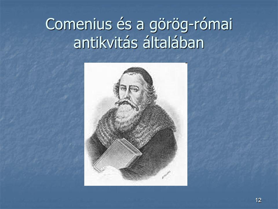 12 Comenius és a görög-római antikvitás általában