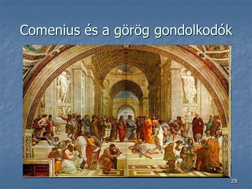 23 Comenius és a görög gondolkodók