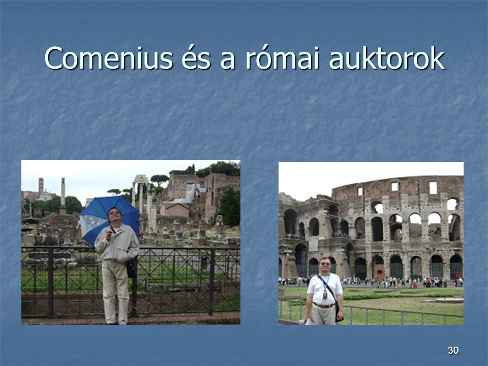 30 Comenius és a római auktorok