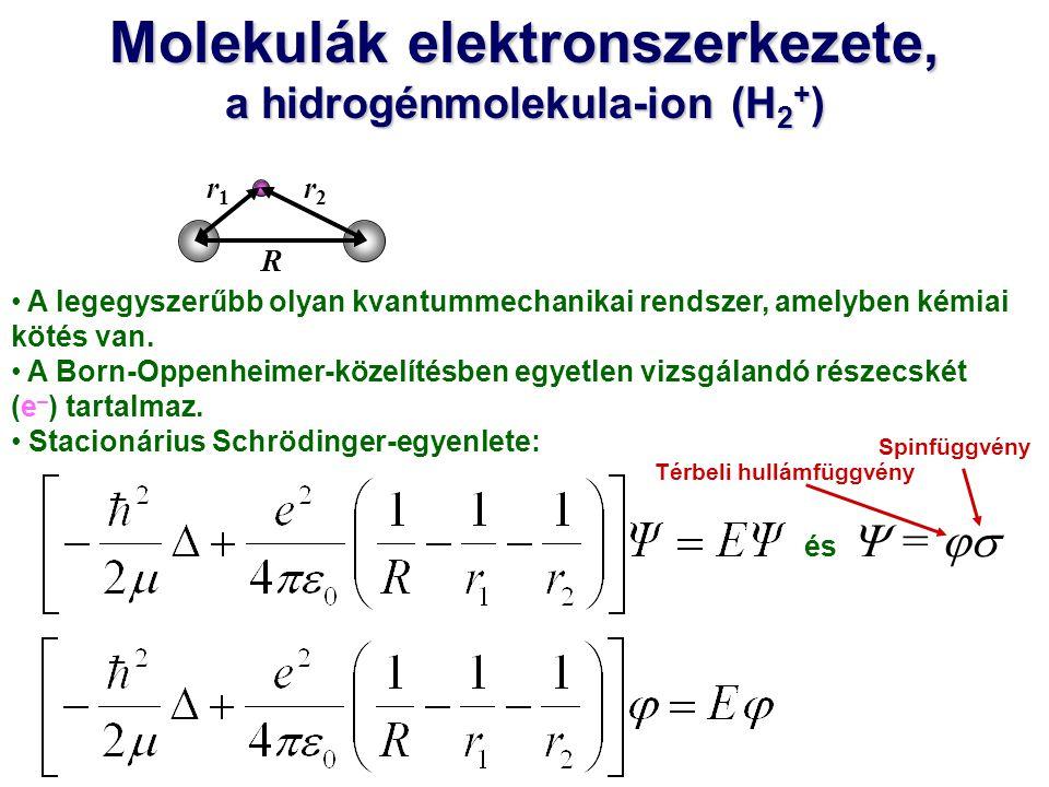 A legegyszerűbb olyan kvantummechanikai rendszer, amelyben kémiai kötés van. A Born-Oppenheimer-közelítésben egyetlen vizsgálandó részecskét (e – ) ta
