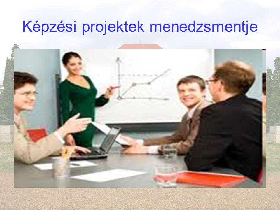 Képzési projektek menedzsmentje
