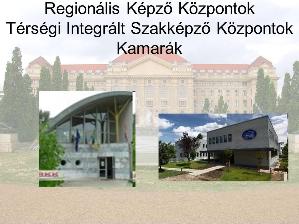 Regionális Képző Központok Térségi Integrált Szakképző Központok Kamarák