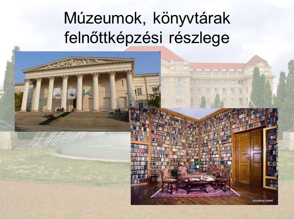 Múzeumok, könyvtárak felnőttképzési részlege