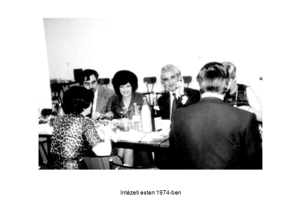 Intézeti esten 1974-ben