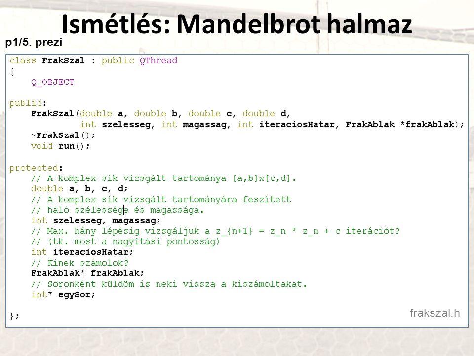 Ismétlés: Mandelbrot halmaz frakszal.h p1/5. prezi