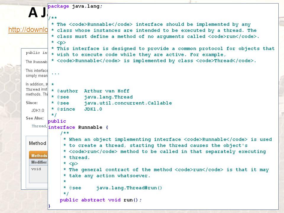 A Java párhuzamosság bevezetése http://download.oracle.com/javase/7/docs/api/index.html?java/lang/Runnable.html