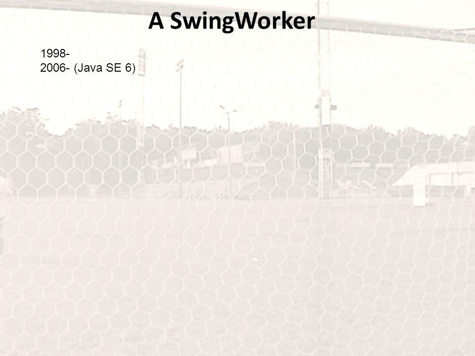 A SwingWorker 1998- 2006- (Java SE 6)