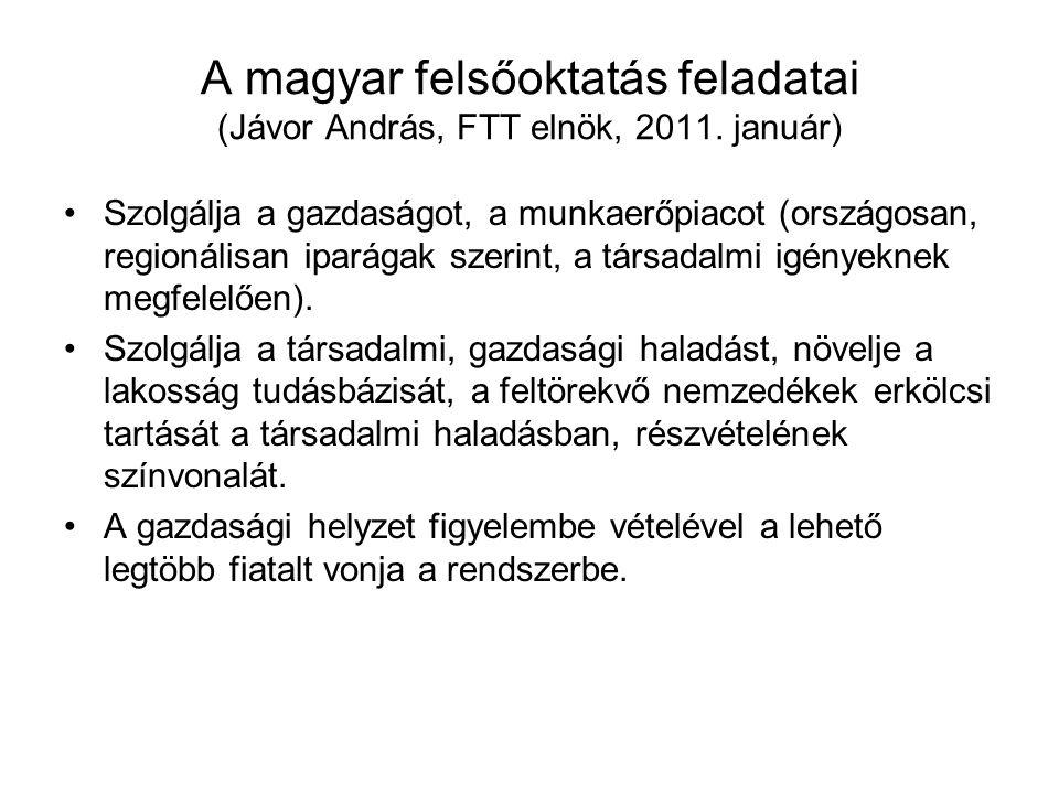 A magyar felsőoktatás feladatai (Jávor András, FTT elnök, 2011.
