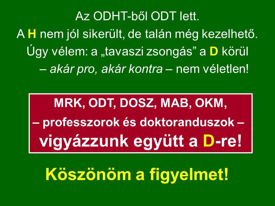 Az ODHT-ből ODT lett. A H nem jól sikerült, de talán még kezelhető.