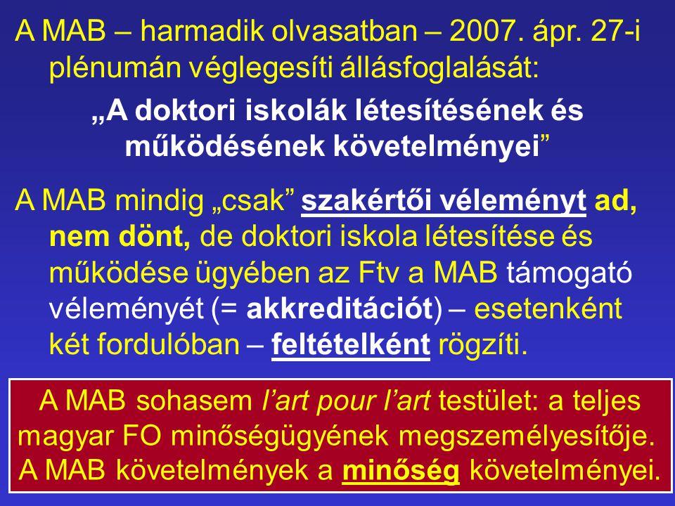 A MAB – harmadik olvasatban – 2007. ápr.