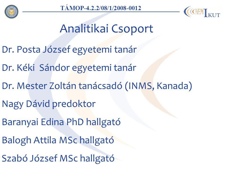 Analitikai Csoport Dr. Posta József egyetemi tanár Dr.