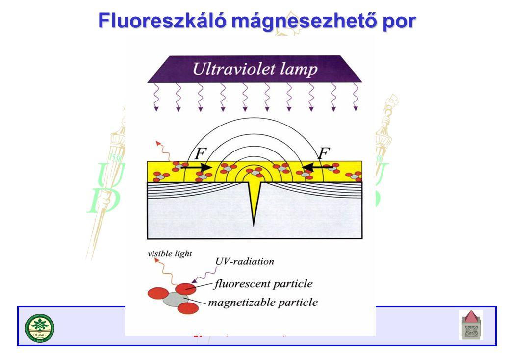 Atomreaktorok anyagai Debreceni Egyetem, Műszaki Kar, 2009/2010. II. félév Fluoreszkáló mágnesezhető por