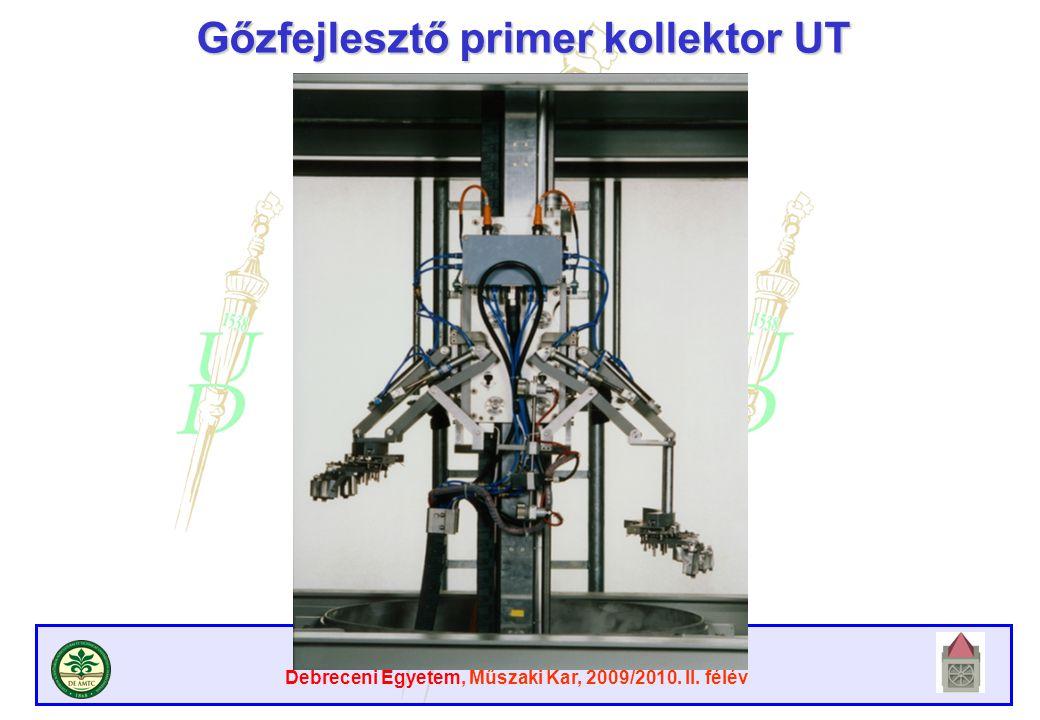 Atomreaktorok anyagai Debreceni Egyetem, Műszaki Kar, 2009/2010. II. félév Gőzfejlesztő primer kollektor UT