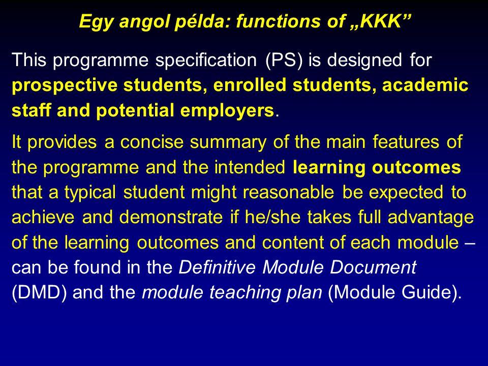 """Egy példa a semmitmondó szakterületi kkk-ra: """"Fülemüle tanár (az eredeti szakképzettség elnevezését kicseréltem) A """"Fülemüle tárgykör interdiszciplináris és holisztikus jelleggel."""