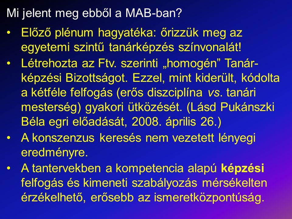 Mi jelent meg ebből a MAB-ban.