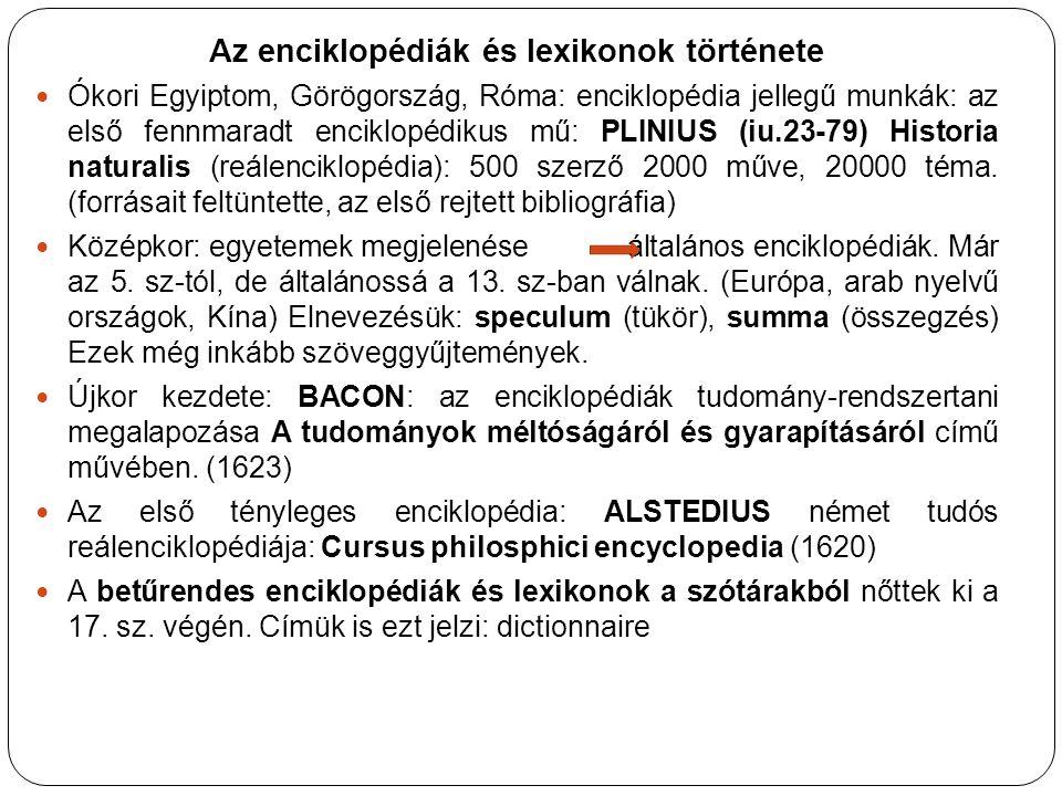 Az 1.baconi tudományrendszertanra épülő betűrendes enciklopédia: 18.