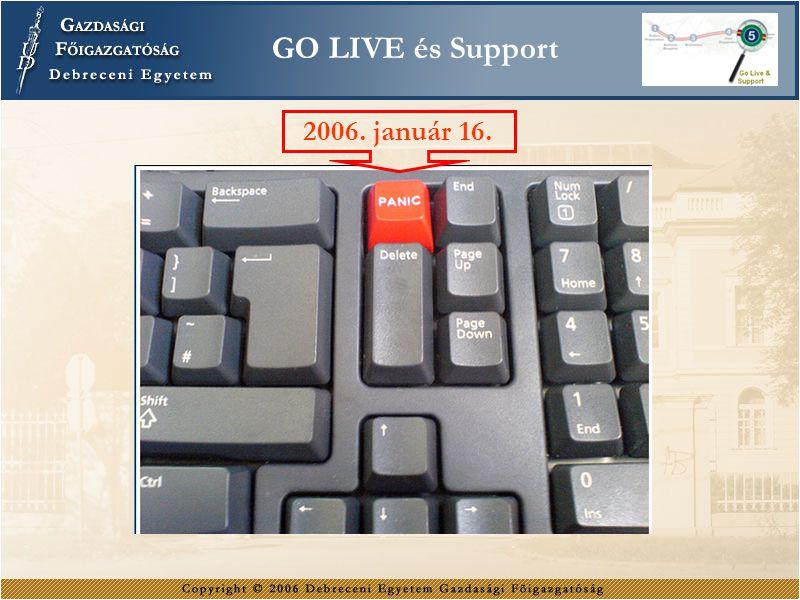 2006. január 16. GO LIVE és Support