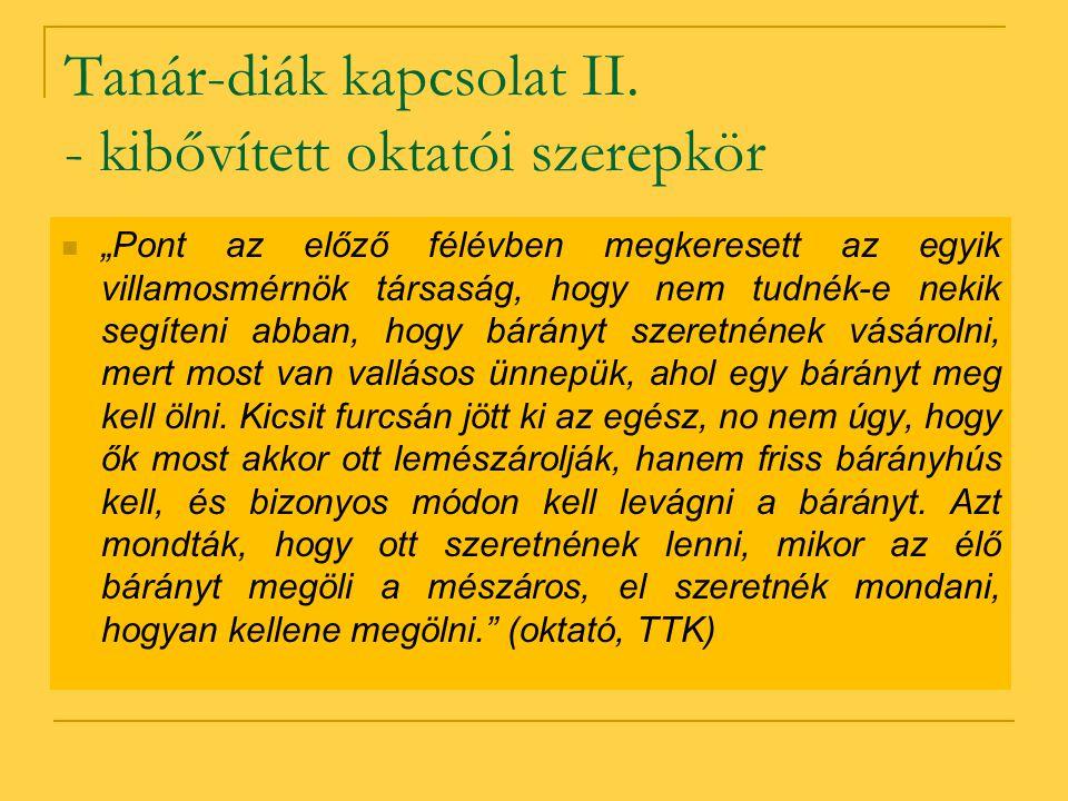 Tanár-diák kapcsolat II.