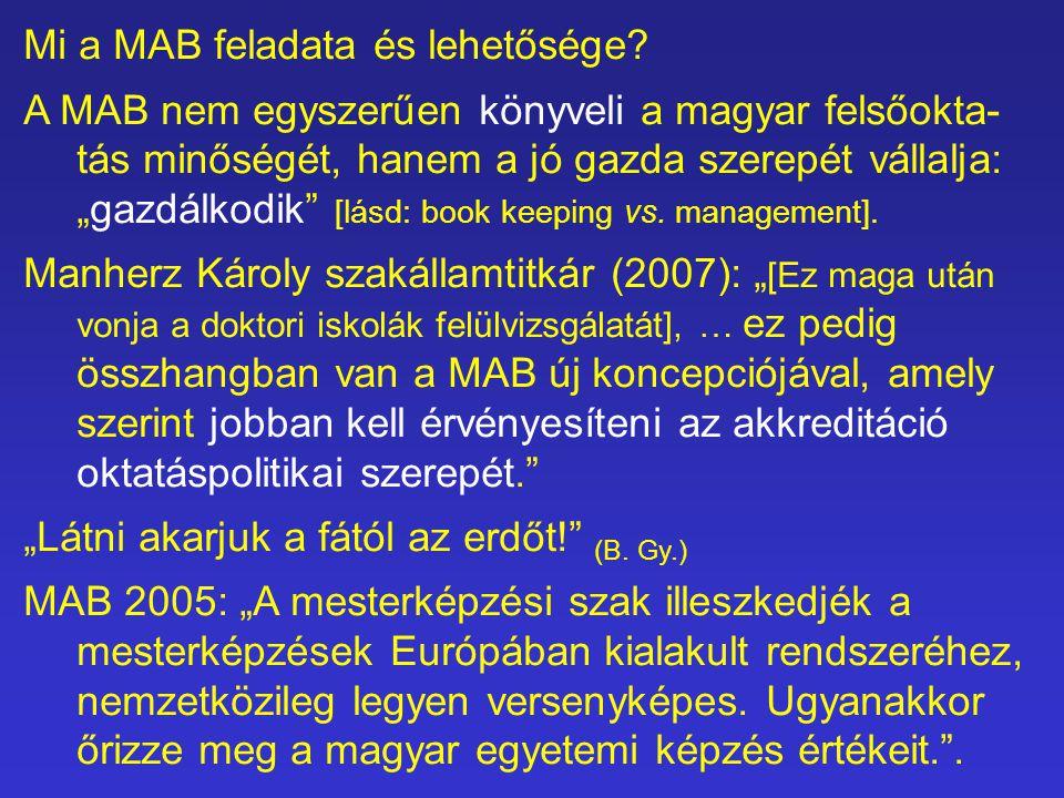 Mi a MAB feladata és lehetősége.