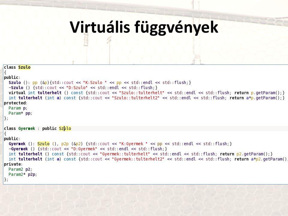 Virtuális függvények