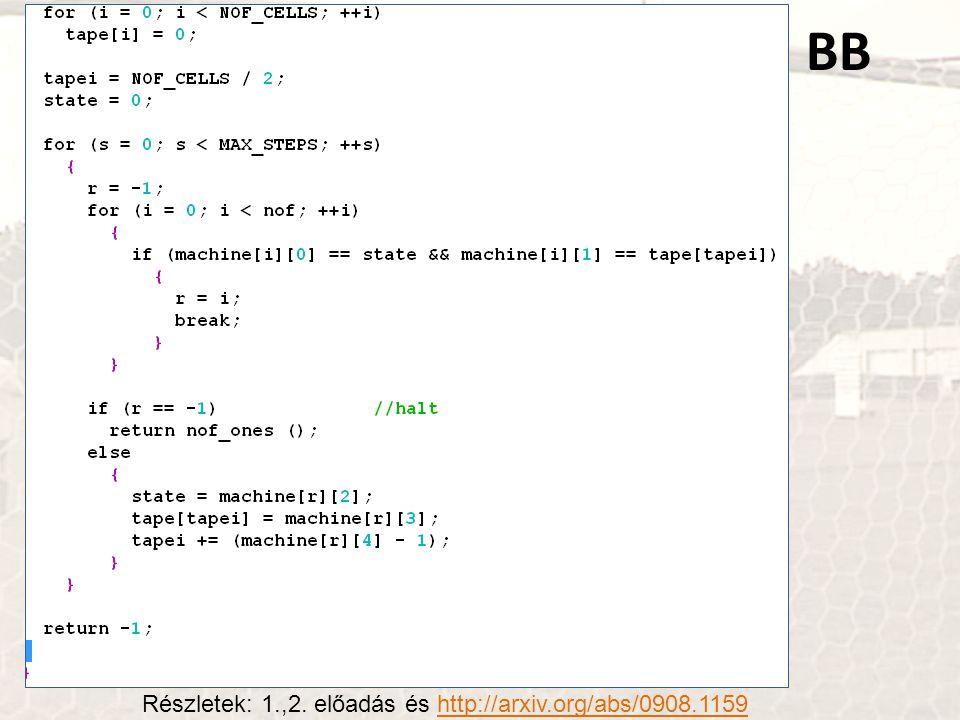 BB Részletek: 1.,2. előadás és http://arxiv.org/abs/0908.1159http://arxiv.org/abs/0908.1159