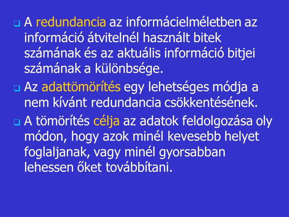   A redundancia az informácielméletben az információ átvitelnél használt bitek számának és az aktuális információ bitjei számának a különbsége.  