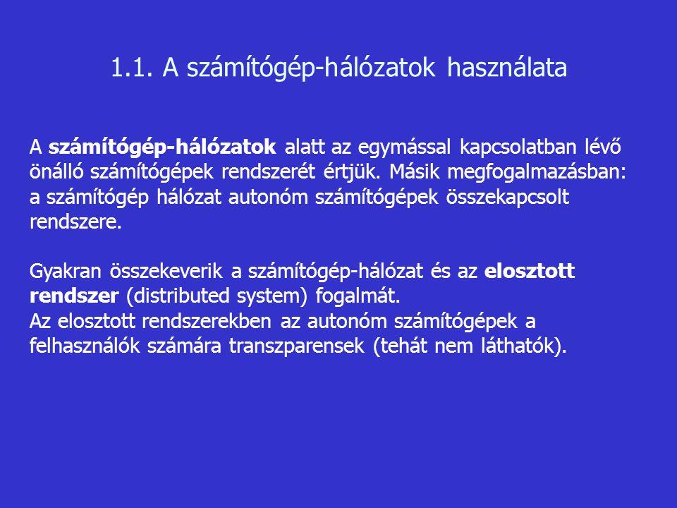 Definíciók Az adatátvitel során elküldött adatokat szimbólumok sorozatának is tekinthetjük.