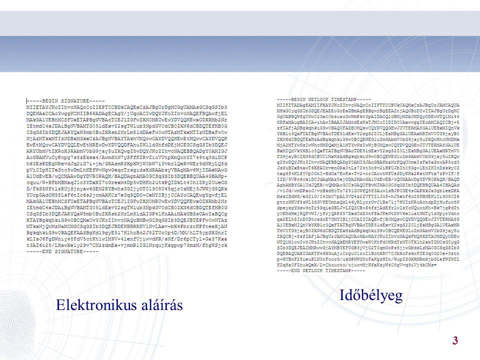 Kriptográfiai alapismeretek Szimmetrikus rejtjelezés – ugyanaz a kulcs titkosításhoz és megfejtéshez (DES, 3DES, stb.) 4