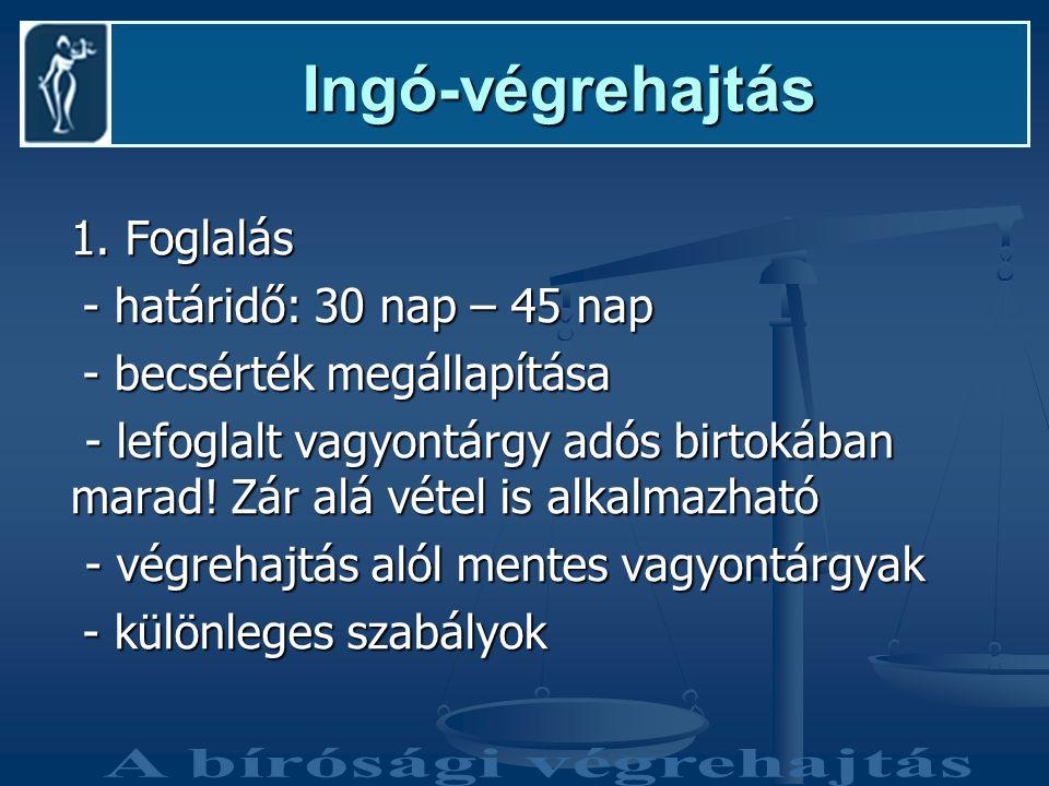 Ingó-végrehajtás Ingó-végrehajtás 1.