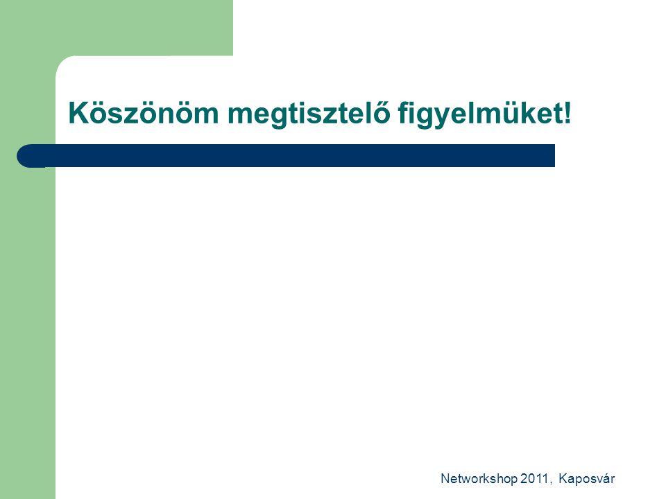 Networkshop 2011, Kaposvár Köszönöm megtisztelő figyelmüket!