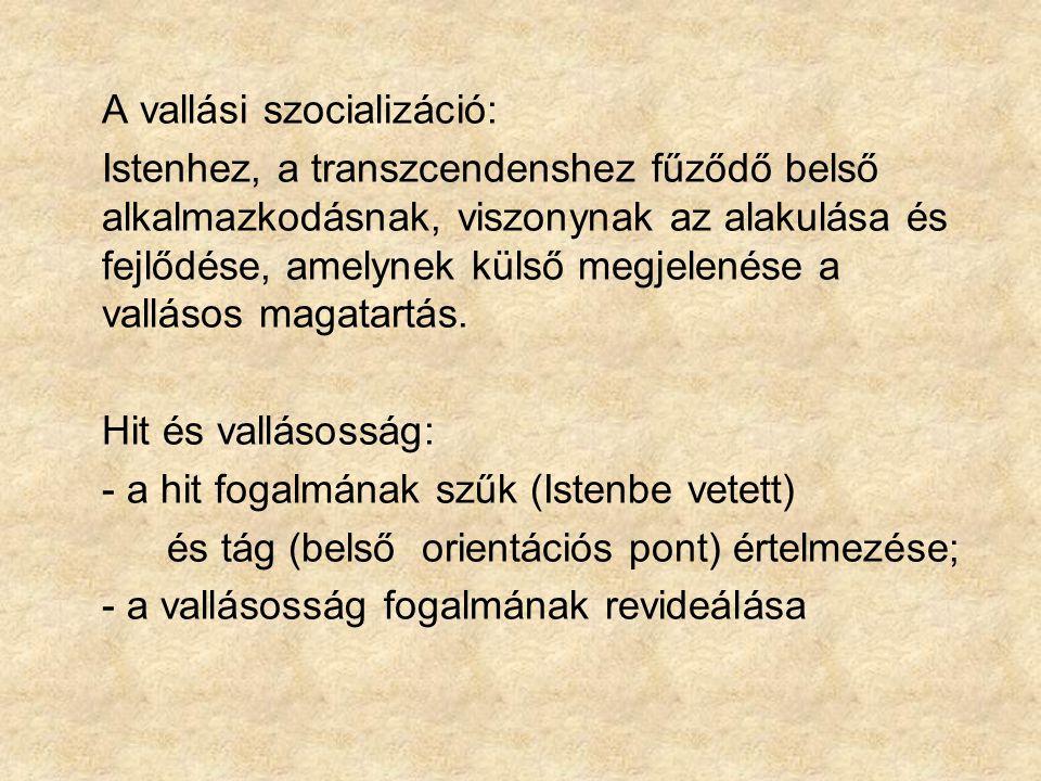 A vallásos személyiségfejlődéshez két rendszerezett stádiumelmélet kapcsolódik: Fritz Oser és Paul Gmünder: a vallási ítéletalkotás fokozatai (Der Mensch - Stufen seiner religiösen Entwicklung, ein struktugenetischer Ansatz, Zürich/Köln, 1984.) James Fowler: A hit fokozatai (Stufen des Glaubens.