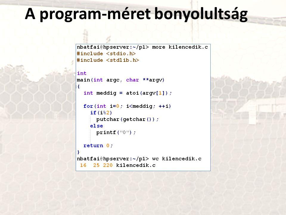 A program-méret bonyolultság