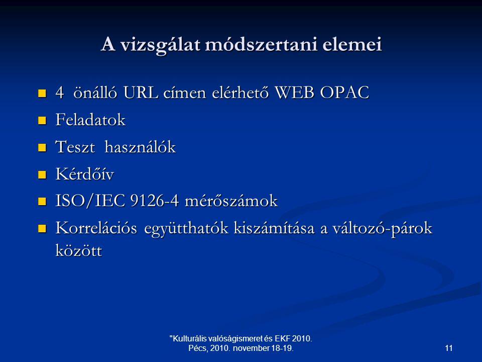11 Kulturális valóságismeret és EKF 2010. Pécs, 2010.