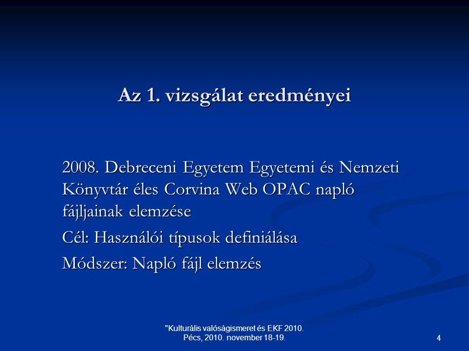 Kulturális valóságismeret és EKF 2010. Pécs, 2010.