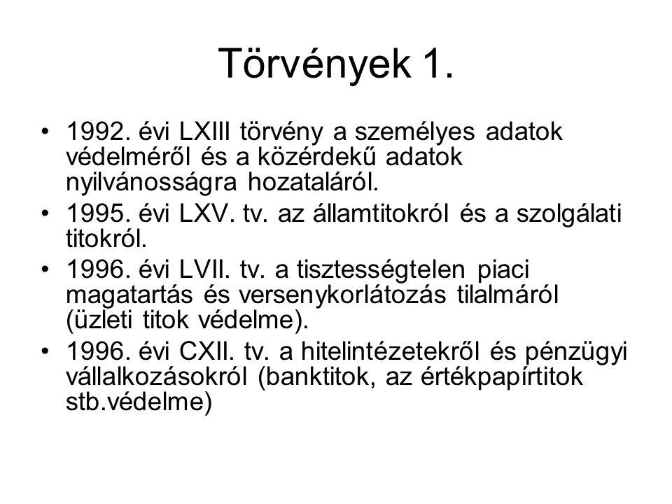 Törvények 1. 1992.