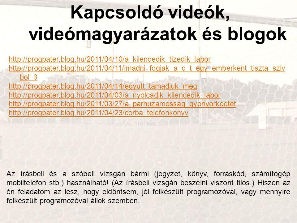 Kapcsoldó videók, videómagyarázatok és blogok http://progpater.blog.hu/2011/04/10/a_kilencedik_tizedik_labor http://progpater.blog.hu/2011/04/11/imadn
