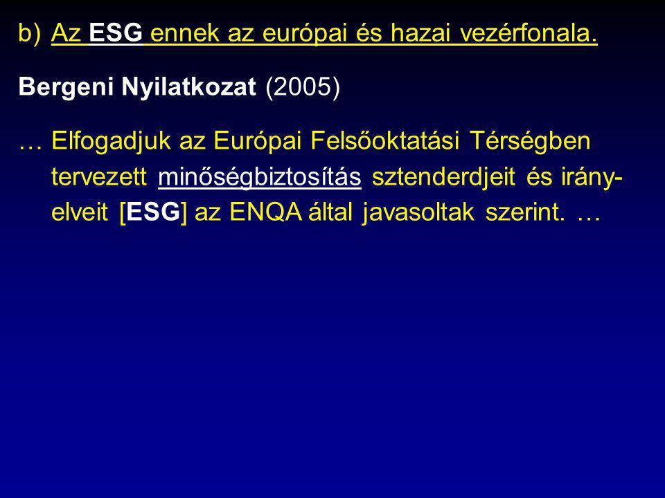 b)Az ESG ennek az európai és hazai vezérfonala.