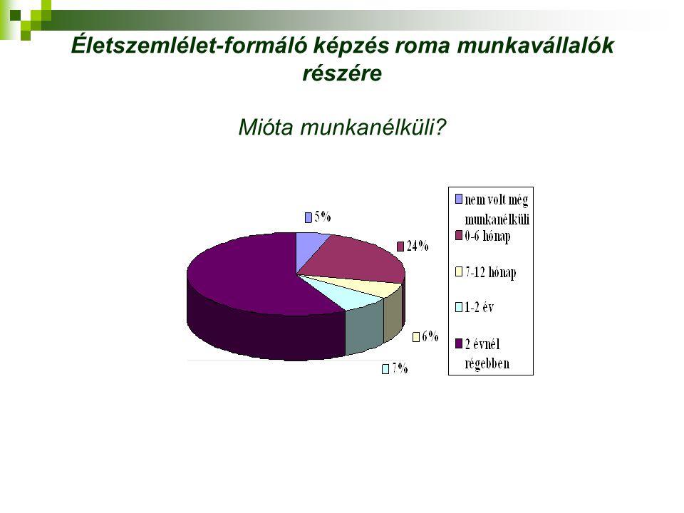 Életszemlélet-formáló képzés roma munkavállalók részére Mióta munkanélküli?
